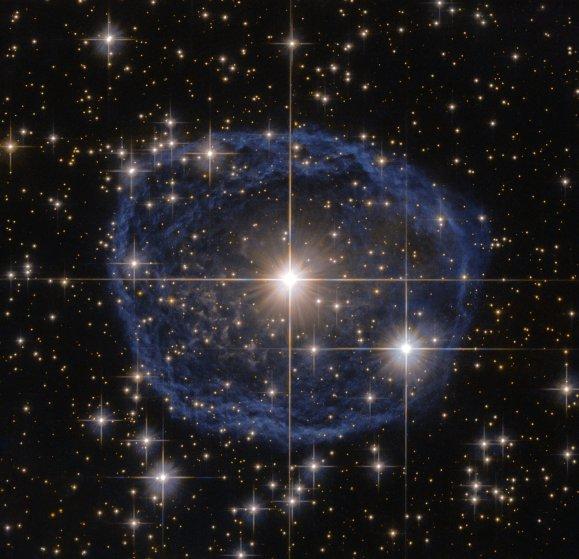 Blue bubble in Carina